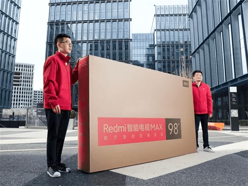 Redmi Smart TV Max packaging.