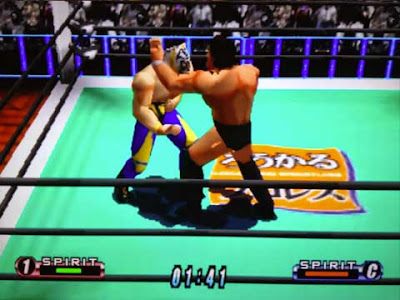 Tiger Mask e Antonio Inoki in ''Virtual Pro Wrestling 64''