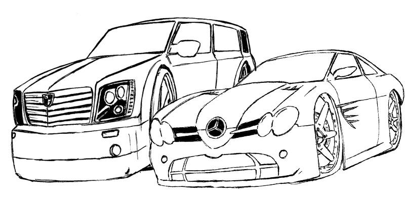Dibujo De Autos Tuning Para Colorear En Tu Tiempo Libre Dibujos 5: FIGURAS DE CARROS