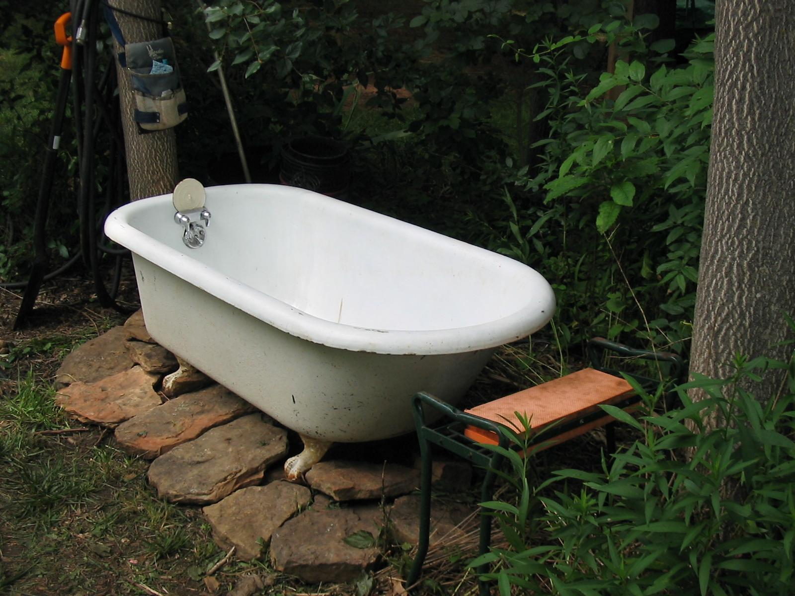 Two Men And A Little Farm Outdoor Soaking Tub