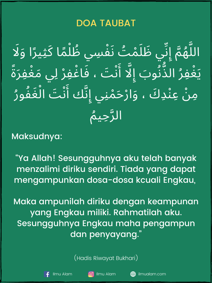 doa sebelum salam tahiyat akhir
