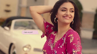 Keerthy Suresh in Pink with Cute and Lovely Smile in Reliance Trends Ad 3