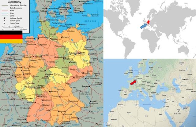 peta negara jerman