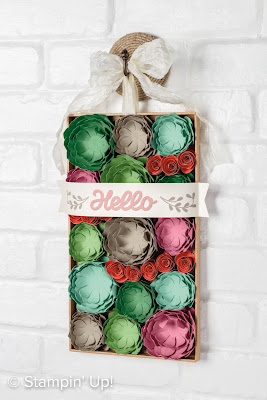 VIDEO tips for Stampin' Up! Vertical Garden Home Decor Project Kit 2017 Occasions Catalog www.juliedavison.com