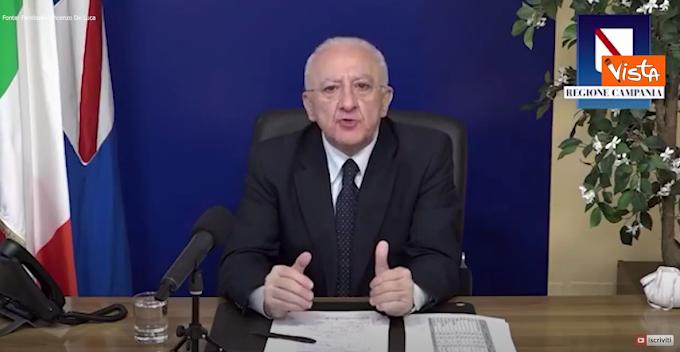 """De Luca: """"La Campania ha comprato il vaccino Sputnik"""""""