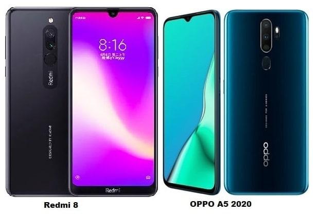 Xiaomi Redmi 8 Vs Oppo A5 2020 Specs Comparison
