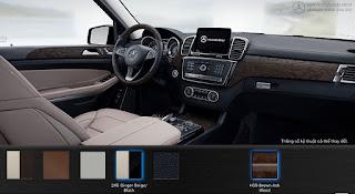 Nội thất Mercedes GLS 500 4MATIC 2018 màu Vàng Ginger/Đen 245