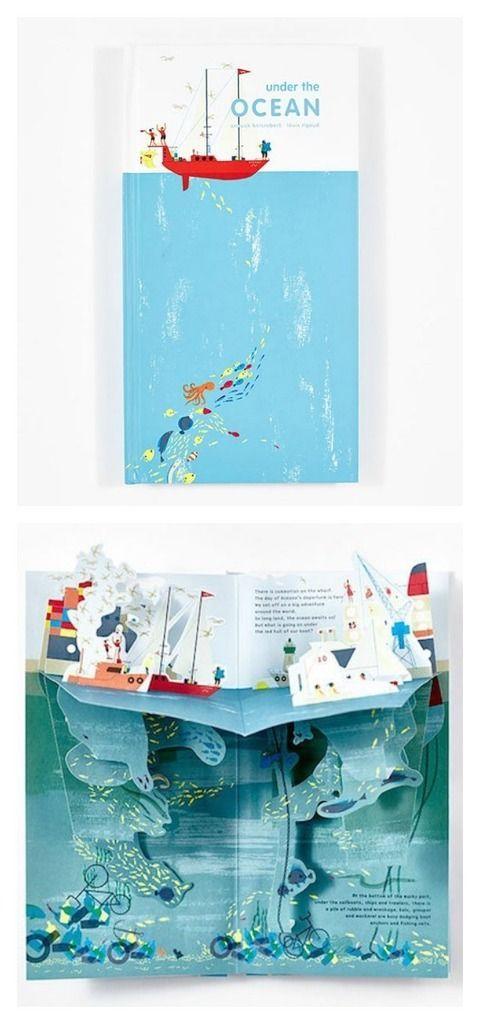 Under the Ocean Pop Up Book Design
