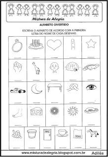 Autoditado com letras do alfabeto