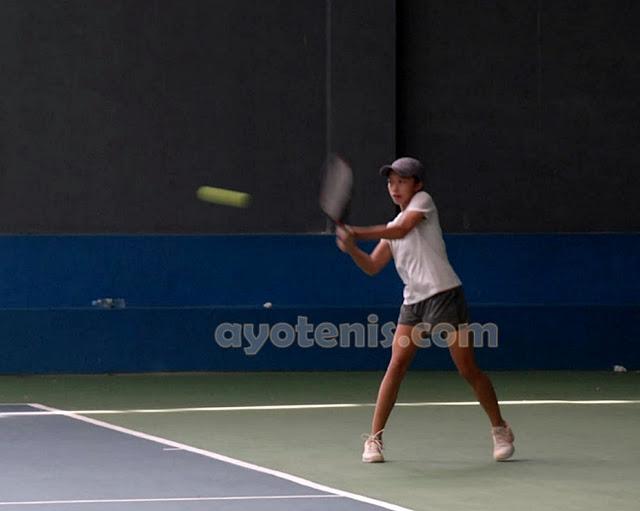 Francesca Heidi Tan Maju ke Putaran 2 Kejurnas Tenis New Armada Cup XXIV