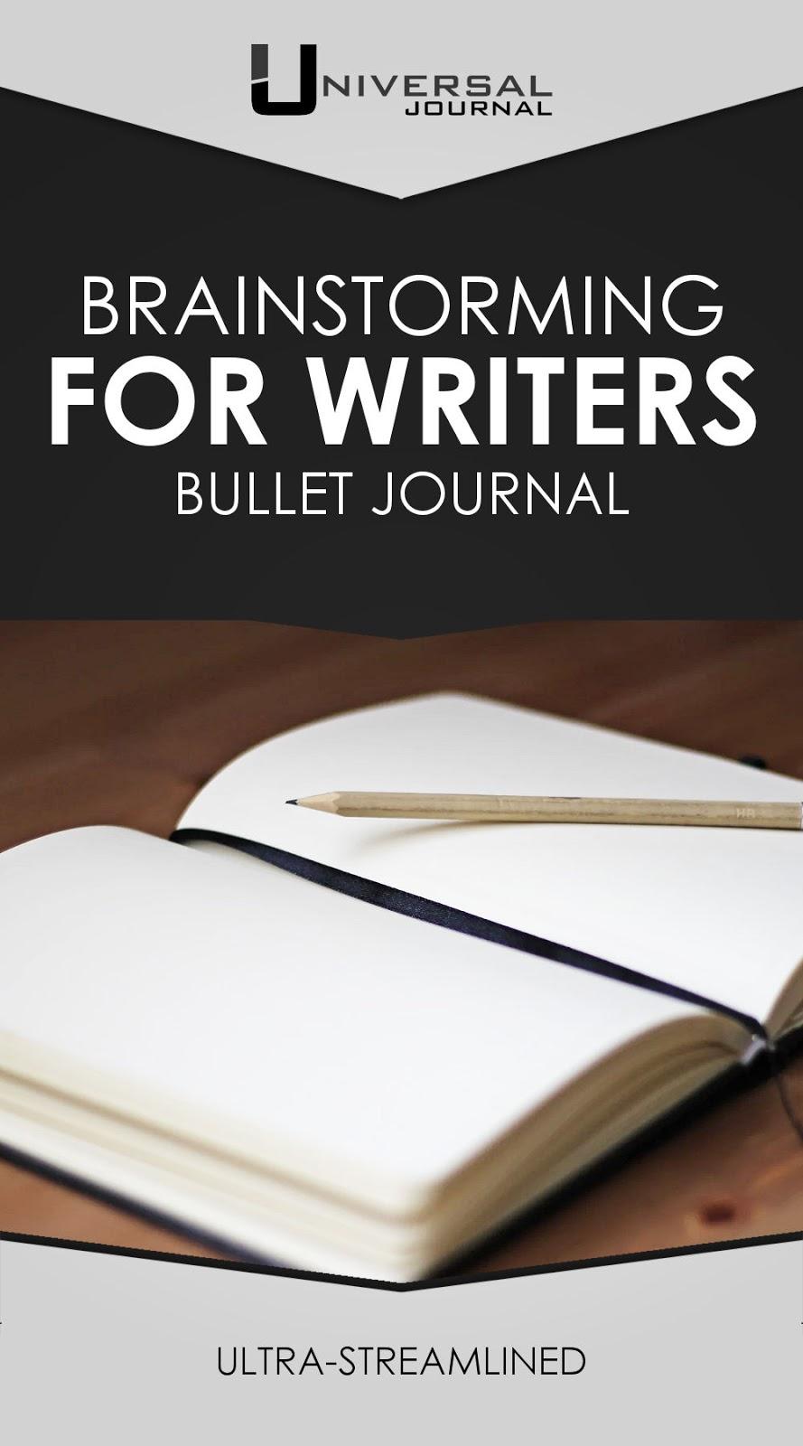 bullet journal brainstorming for writers