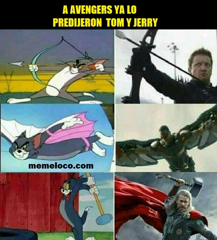 Avengers ya lo predijeron Tom y Jerry