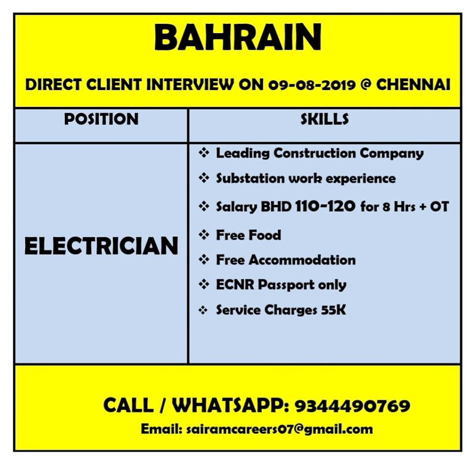 Bahrain Construction Companies Jobs