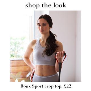boux sport crop top