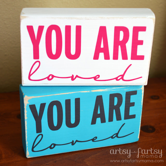 You Are Loved Blocks: perfect for Mother's Day, Teacher Appreciation, or for yourself!