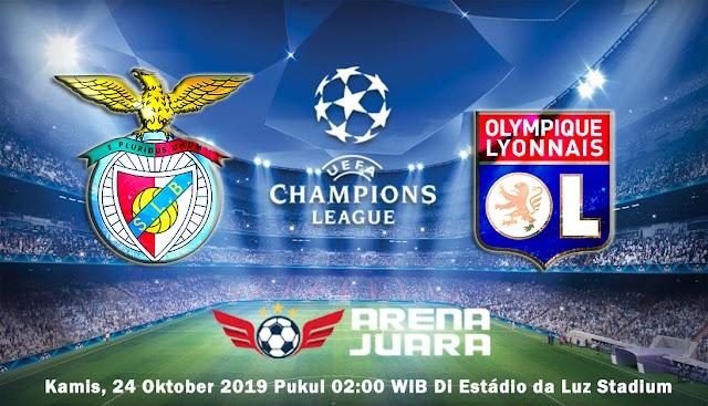 Prediksi Champions League Benfica vs Lyon 24 Oktober 2019   02:00 WIB
