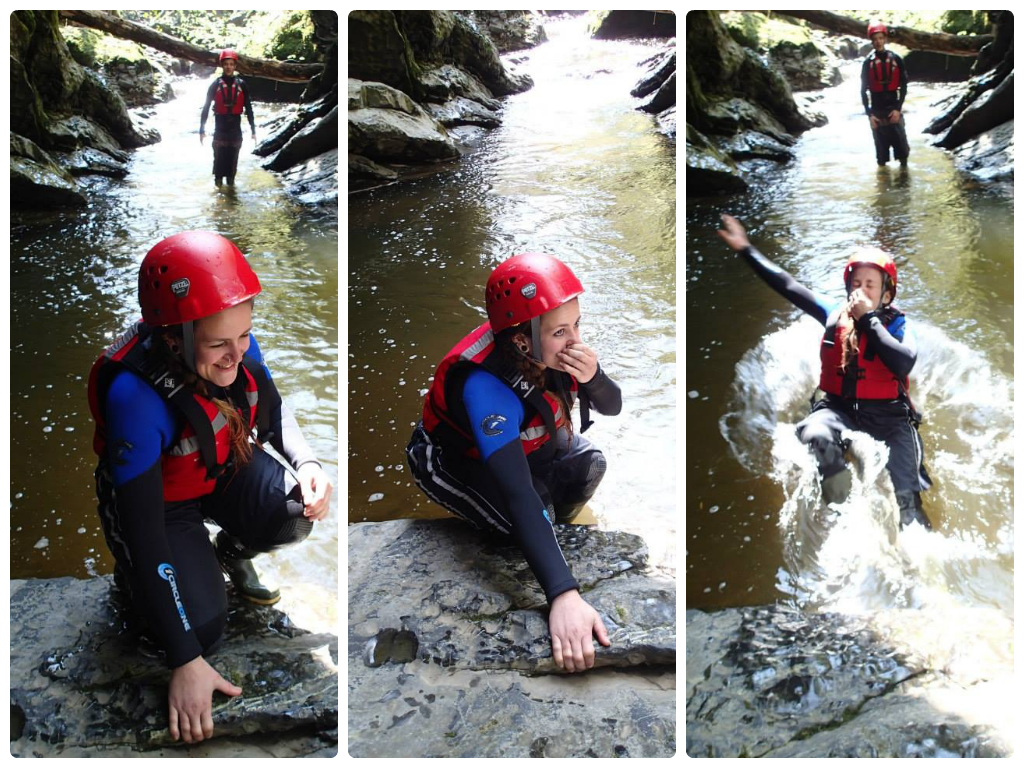 Gorge walking Brecon Beacon South Wales