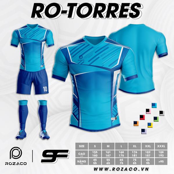 Áo Không Logo Rozaco RO-TORRES Màu Xanh Ya