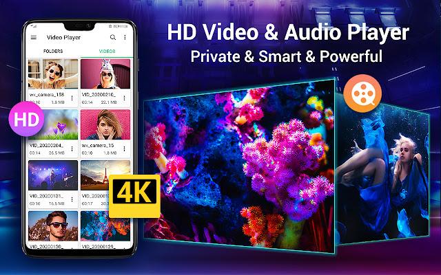 تحميل تطبيق HD فيديو بلاير HD Video Player تشغيل العديد من مقاطع الفيديو المختلفة