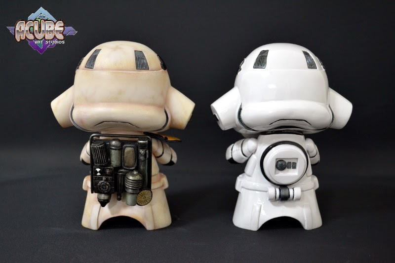 Stormtrooper and Sandtrooper with Dewback Mega Vinyl toys crafted by Acube Art Studiosphoto