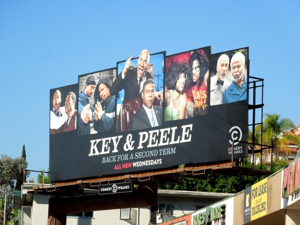 Key Peele season 2 Comedy Central billboard
