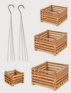 Chậu gỗ vuông lỗ thưa