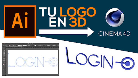 TU LOGO EN 3D CON ILLUSTRATOR Y CINEMA 4D 2021