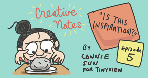 """Comic series """"Creative Notes"""" new episode preview, by Connie Sun, cartoonconnie, for Tinyview Comics"""