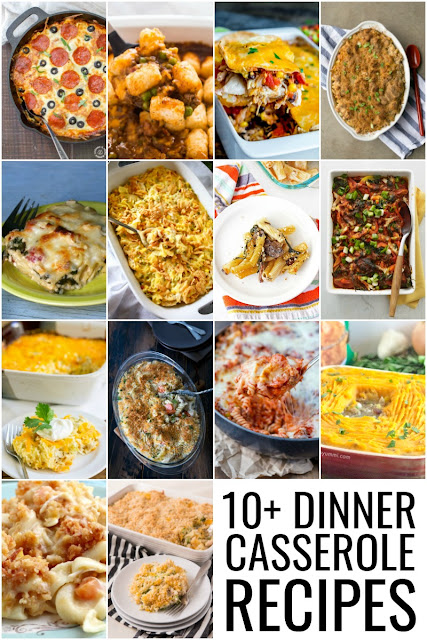 Comforting, family pleasing casseroles are the perfect addition to that weekly meal plan! Be sure to check out these 10+ Dinner Casserole Recipes.