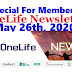 OneLife Newsletter, May 26th, 2020