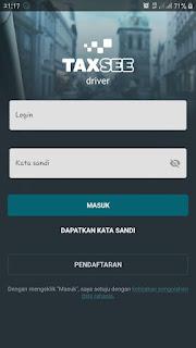 Login ke aplikasi untuk menjadi driver dan mendapat orderan