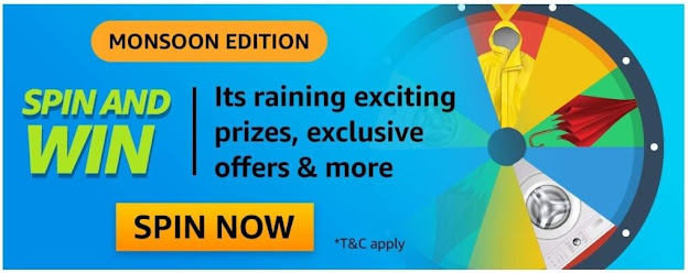 Amazon Monsoon Edition Spin & Win Quiz-A ___ is a slow, light rain that can go on for hours.