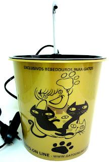 BEBEDOURO PLÁSTICO GATOONLINE DOURADO