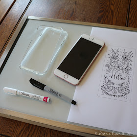personalize your clear phone case using oil based sharpie markers | Lorrie Everitt Studio