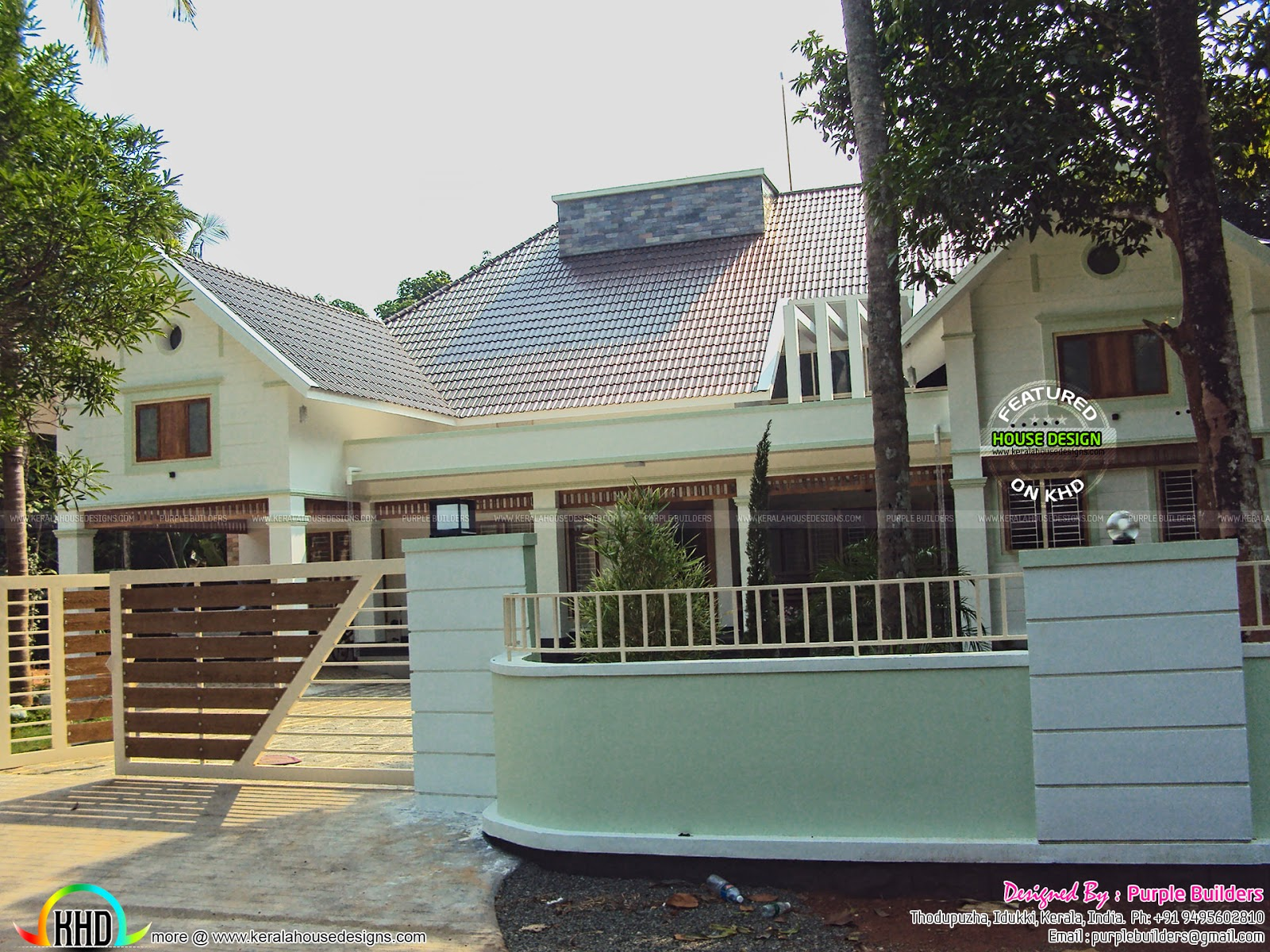 Finished home with interior kerala home design and floor for House plans with finished photos