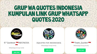 Link grup whatsapp quotes 2020