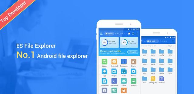 تنزيل تطبيق  ES File Explorer File Manager Premium  اقوى مدير للملفات و البرامج بخصائص إضافية و متعددة للاندرويد
