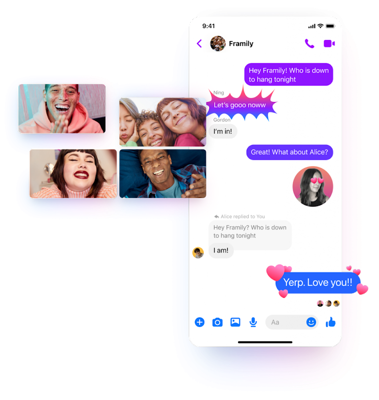 Messenger friends and family