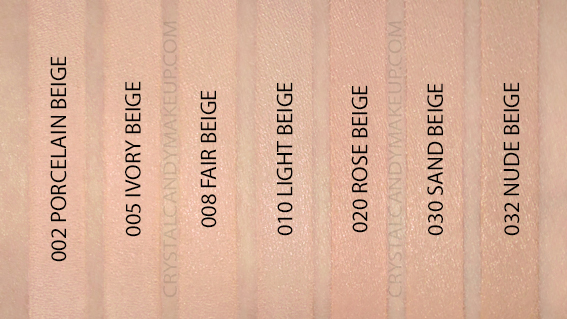 Catrice HD Liquid Coverage Foundation Swatches 002 005 008 010 020 030 032 MAC NC15 NC20 NW20 NW25