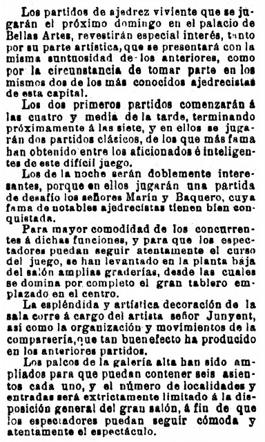 recorte de La Vanguardia, 6/10/1904