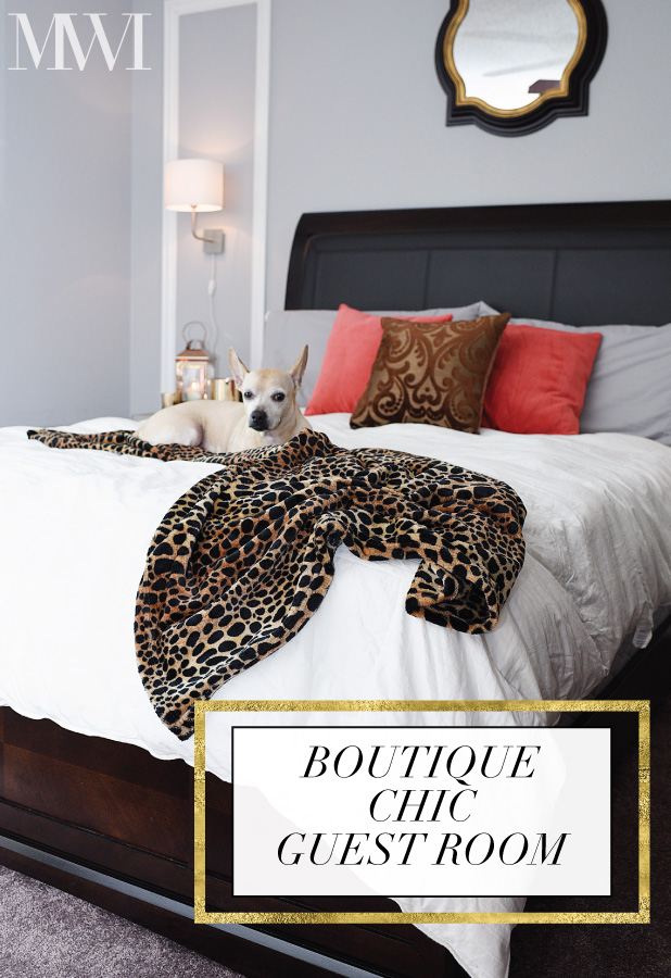 Tips and ideas for creating a boutique hotel inspired bedroom via monicawantsit.com