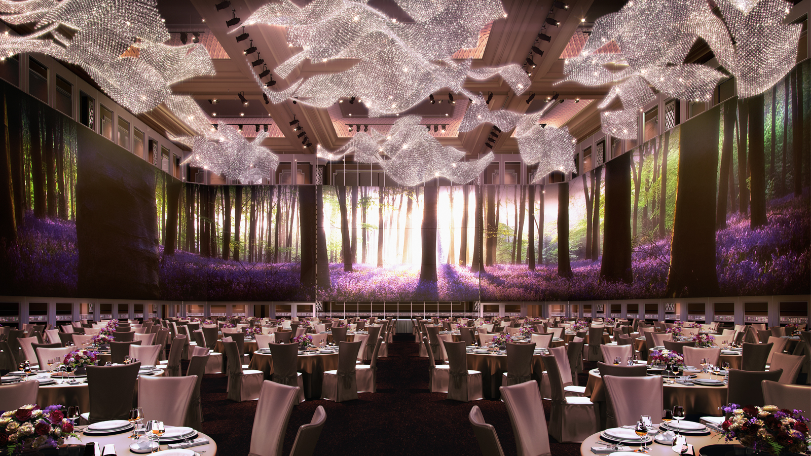 The st regis kuala lumpur kl sentral 270 led digital canvas which serves as a customizable backdrop and the glistening austrian crystal chandeliers junglespirit Gallery
