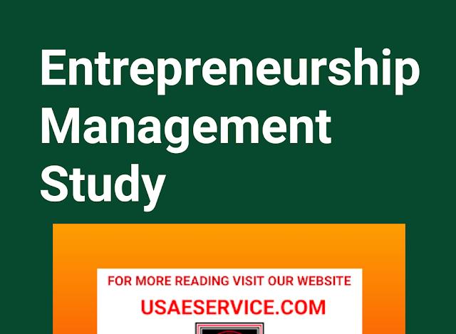 Entrepreneurship Management Study