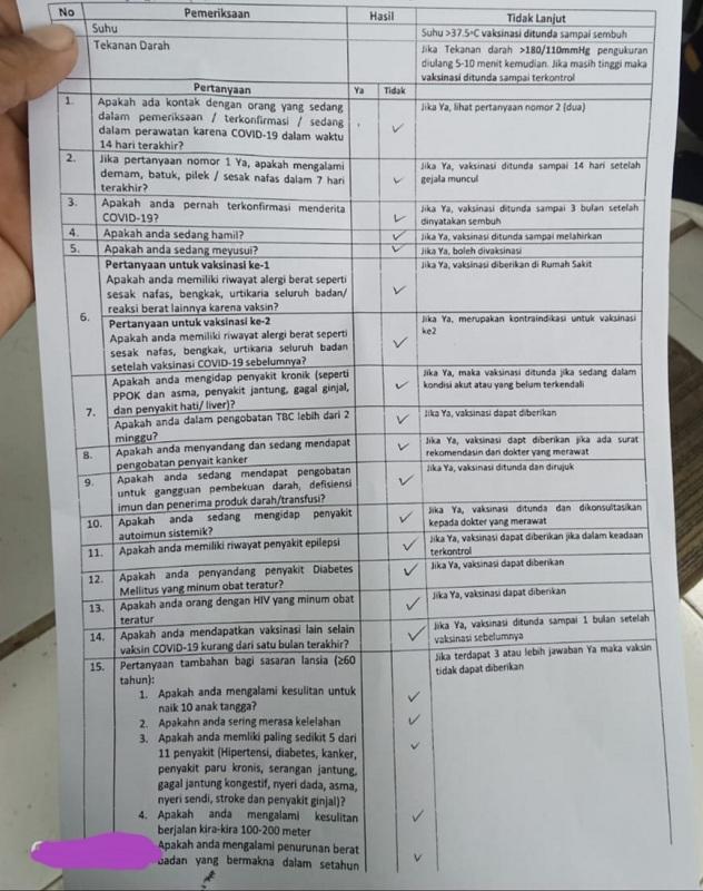 kriteria penerima vaksin corona