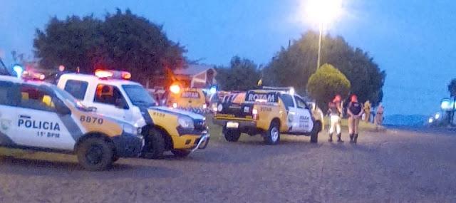 Polícia faz operação de reintegração de posse em Roncador