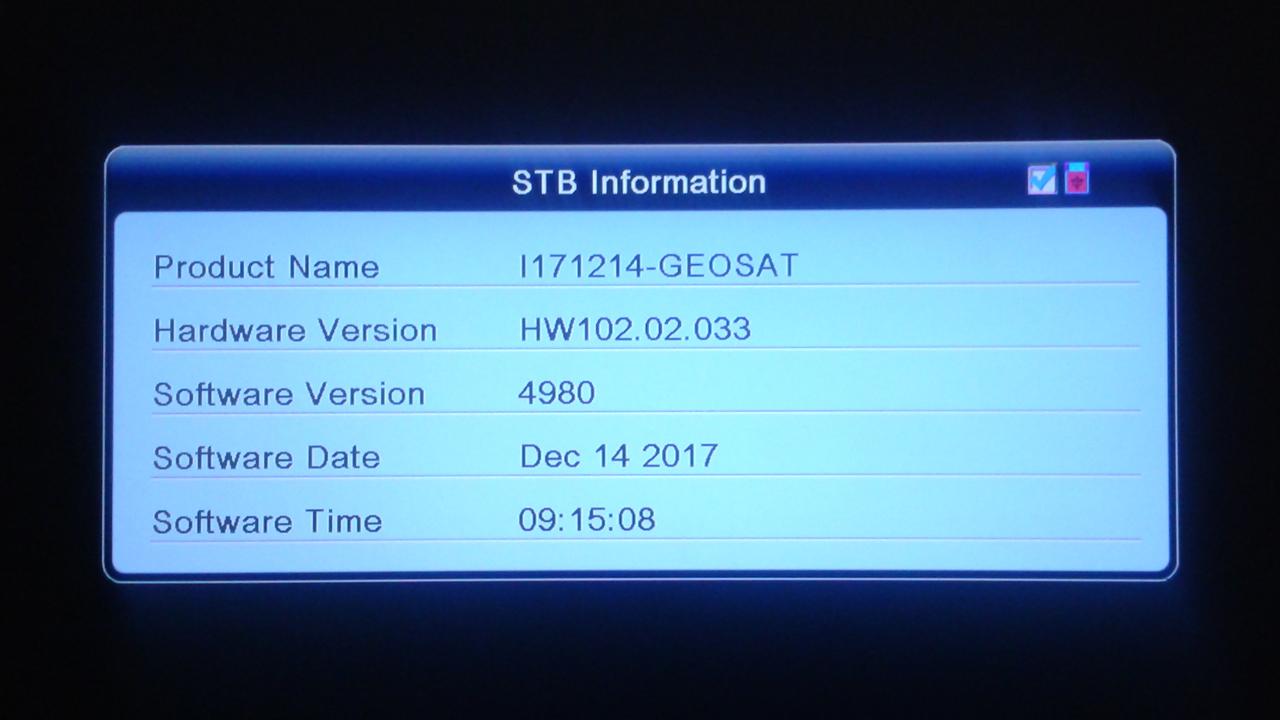 SW Geosat Jasper HD Firmware Software Terbaru ALI3510C