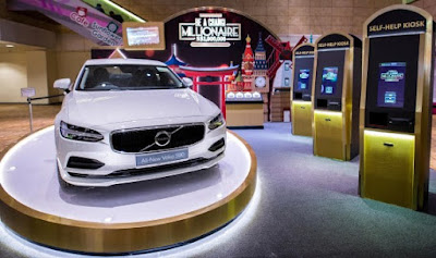 Source: Changi Airport Group. This year's Be a Changi Millionaire competition offers a chance to win a Volvo sedan as well.
