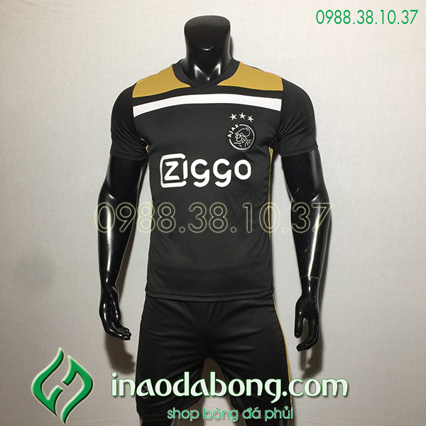 Áo bóng đá câu lạc bộ Ajax màu đen 2020