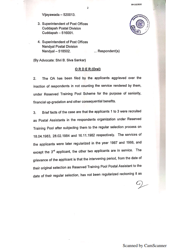 COUNTING OF RTP SERVICE FOR SENIORITY judgement