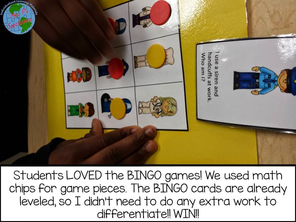 photo of student playing community bingo game